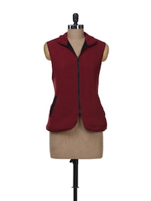 Red & Brown Warm Reversible Jacket - Color Cocktail