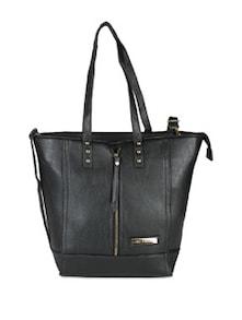 Front Zipper Handbag With Rivets - Lino Perros 50506