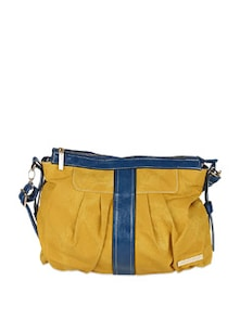 Pleated Handbag With Contrast Panelling - Lino Perros