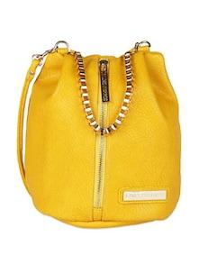 Metal Handle Bag With Front Zipper - Lino Perros 50598