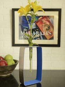 Rectangular Blue Bud Vase - Arttd'inox