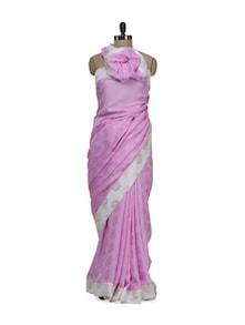 Pink Jacquard Saree - ROOP KASHISH