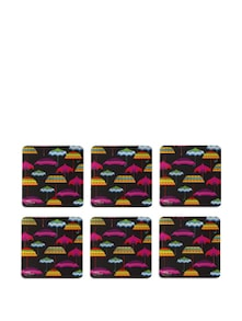 Umbrellas Rubber Coasters - (Set Of 6) - India Circus