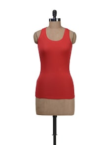 Red Racer Back Tank Top - Deal Jeans