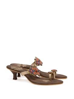 Red, Blue & Gold Festive Sandals - CATWALK