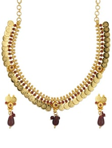 Traditional Golden Necklace Set - Luxor