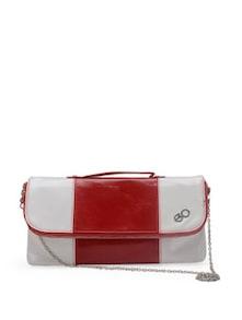 Stylish Red & White Clutch - E2O