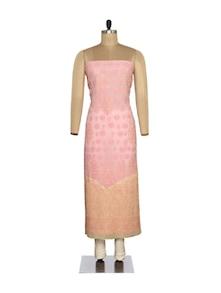 Pink Chikankari Unstitched Suit - Ada