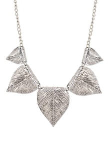 Silver 5-Leaf Pendant Necklace - YOUSHINE