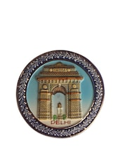 India Gate Round Ceramic Magnet - The Bombay Store