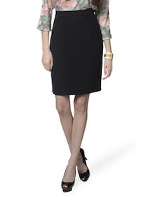 Black Knee Length Formal Skirt - MARTINI