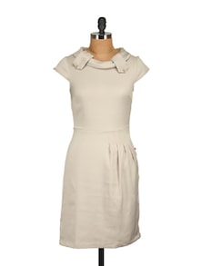Stylish Off-White Dress - Tops And Tunics