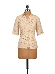 Ditzy Print Shirt - Tops And Tunics