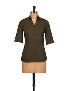 Military Green Shirt - Tops And Tunics