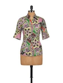 Multi Print Shirt - Tops And Tunics