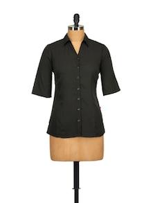Classic Black Shirt - Tops And Tunics