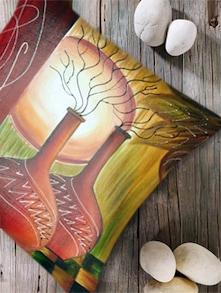 Digital Print 'Sunset Painting' Cushion Cover - Belkado