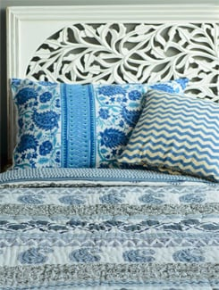 Jaipuri Quilt In Off-White And Grey - Cotton Curio