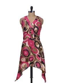 Printed Asymmetrical Dress - Stylechiks