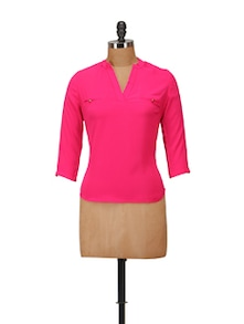 Chic Hot Pink Top - Harpa