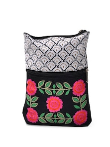 Floral Embroidered Mini Sling - Pick Pocket