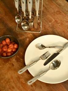 Stylish Grey Cutlery Set- 25 Piece - Elegante