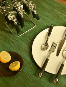 Designer Black Cutlery Set- 25 Piece - Elegante