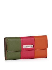 3-Way Colour Blocking PU Flap Wallet - Addons