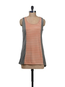 Everyday Tunic With Printed Panel - Kaxiaa