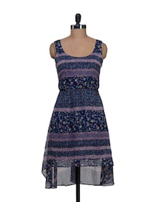 Printed Asymmetrical Dress - HERMOSEAR
