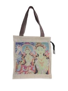 Colourful Oriental Jute Bag - The House Of Tara