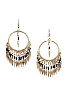 Black & Gold Hoop Earrings - Blueberry