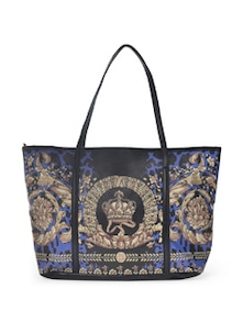 Black & Blue Chintz Print Bag - YOUSHINE