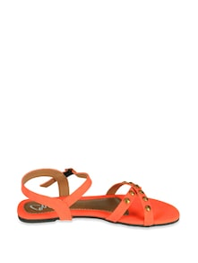 Orange Studded Sandals - Chalk Studio