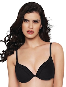 Black Padded Lace Bra - Inner Sense