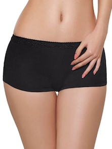 Black Laced Boy Shorts - Inner Sense