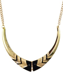 Black & Gold Statement Necklace - DIOVANNI