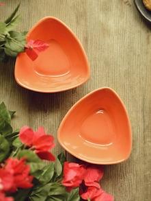 Orange Snacks Bowl - Set Of 2 - Habitation