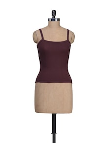 Brown Square Neck Camisole - Lady Lyka