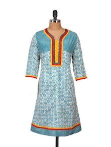 Fashion Hit Multi Coloured Kurti - ETHNIC