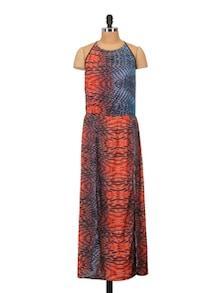 Print Play Red Beach Dress - Crazi Darzi
