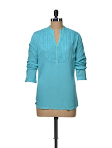 Cute Turquoise Lace Top - House Of Tantrums