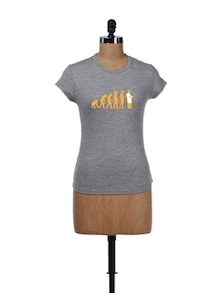 Evolution Pride Grey T-Shirt - Campus Sutra