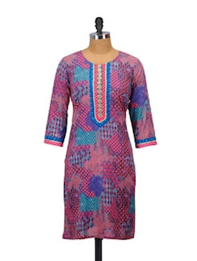 Colour Mix Cotton Kurta - Glam And Luxe