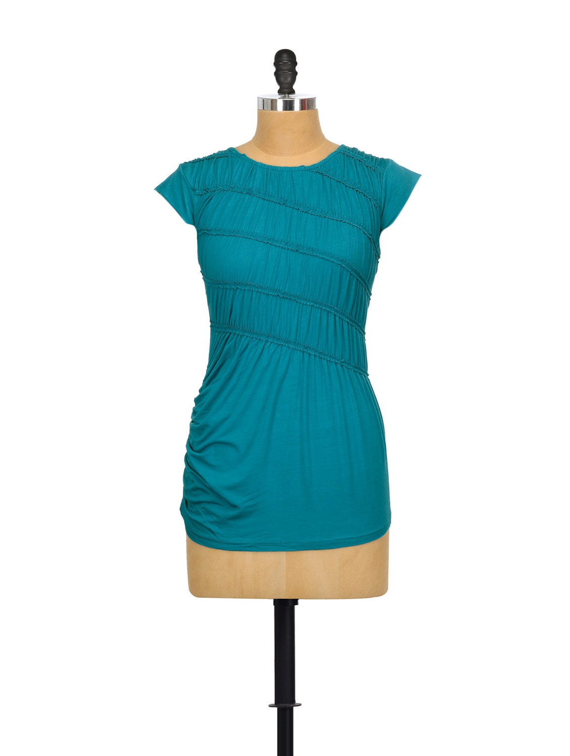 Bravo Blue Cotton Top - Glam And Luxe