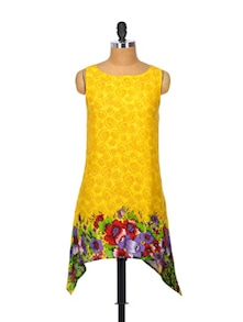 Fit And Flair Yellow Kurta - Glam And Luxe
