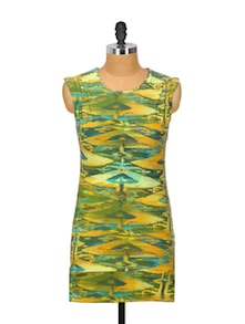 Gorgeous Green Cotton Dress - Glam And Luxe