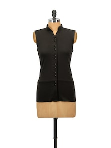 Boisterous Black Cotton Top - Glam And Luxe