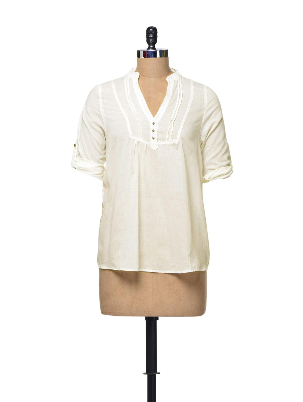 Off White Cotton Top - La Zoire