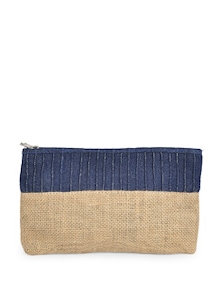 Pouch In Denim & Jute - Use Me